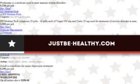 Justbe-healthy.com Review – Details for this Former Store were Incomplete
