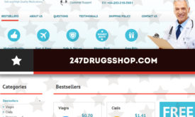 247drugsshop.com Review – A Vendor with Neither Complaints nor Proven Positive Testimonials