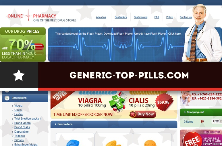 Generic-top-pills.comReview- Online Pharmacy Without Independent Reviews