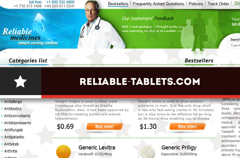 Reliable-tablets.com Review - A Pharmacy that Now Redirects to a New Website