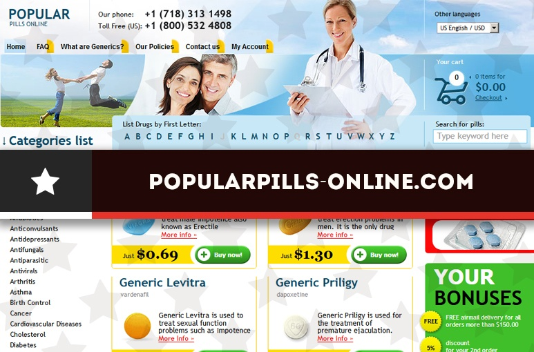 Popularpills-online.com Review - A Drugstore That Remained in Operation for One Year
