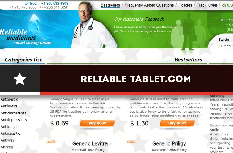 Reliable-tablet.com Review - Another Victim of Big Pharmas' Plot
