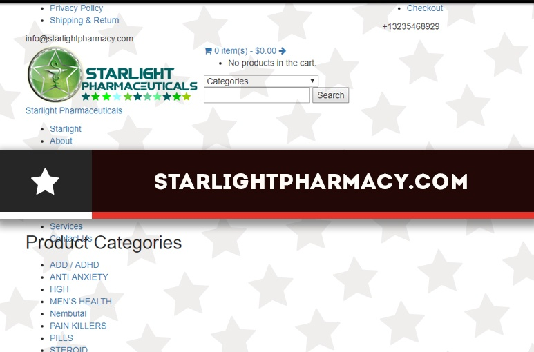 Starlightpharmacy.com Review - American Online Pharmacy with a Minimum Order Requirement